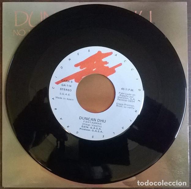 Discos de vinilo: Duncan Dhu. No puedo evitar pensar en ti/ Fantasmas. Grabaciones Accidentales, Spain 1986 single - Foto 4 - 226141600
