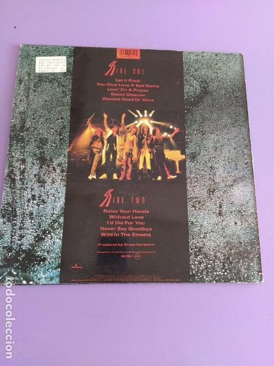 Discos de vinilo: LP ORIGINAL 1986. BON JOVI. SLIPPERI WHEN WET. SPAIN. MERCURY 830 264 1 - Foto 3 - 226142475