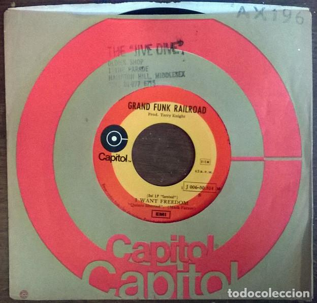 GRAND FUNK RAILROAD. FEELIN' ALRIGHT/ I WANT FREEDOM. CAPITOL, SPAIN 1971 SINGLE (Música - Discos - Singles Vinilo - Pop - Rock - Extranjero de los 70)