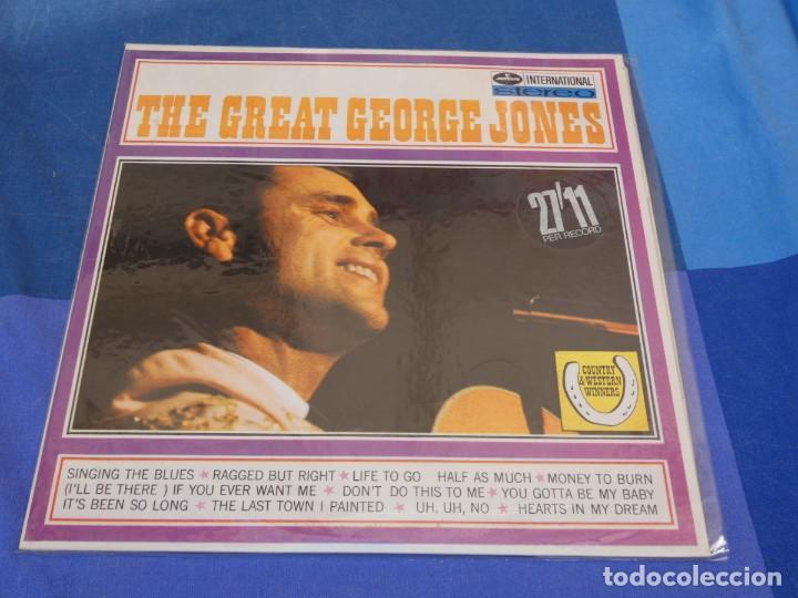 LOCH01 LP COUNTRY UK ANTIQUISIMO THE GREAT GEORGE JONES MUY BUEN ESTADO GENERAL (Música - Discos - LP Vinilo - Pop - Rock - Extranjero de los 70)