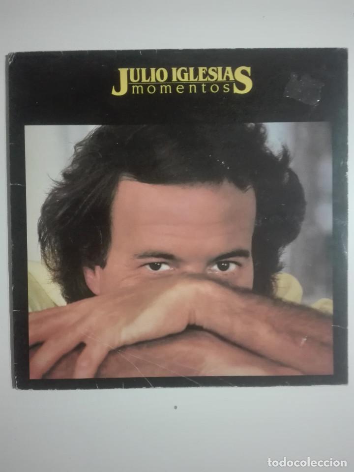 """VINILO 12"""" LP JULIO IGLESIAS MOMENTOS - 1982 - 280G (Música - Discos - LP Vinilo - Solistas Españoles de los 70 a la actualidad)"""
