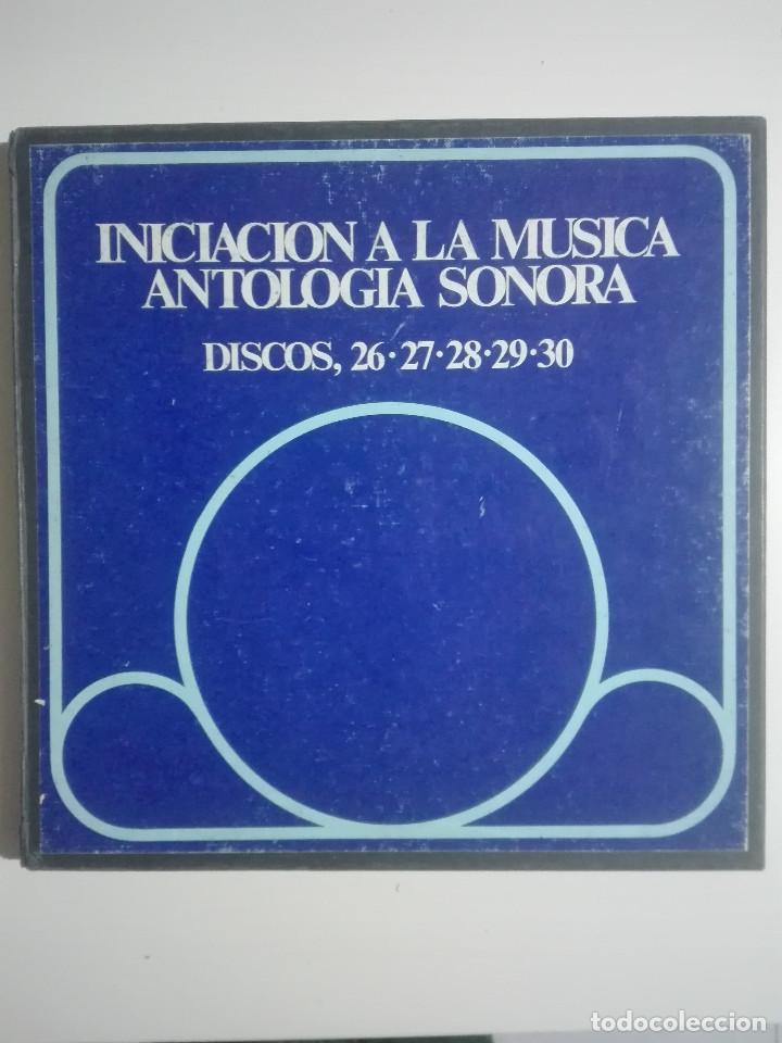 """4 VINILOS 12"""" 4 LPS INICIACION A LA MUSICA ANTOLOGIA SONORA 26, 27, 28, 29 - MUSICA CLASICA - 1,2KG (Música - Discos - LP Vinilo - Solistas Españoles de los 70 a la actualidad)"""