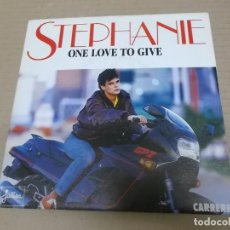 Discos de vinilo: STEPHANIE (SINGLE) ONE LOVE TO GIVE AÑO 1986 - PROMOCIONAL. Lote 226153878