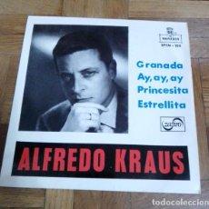 Discos de vinilo: SINGLE ALFREDO KRAUS GRANADA AY, AY, AY PRINCESITA ETRELLITA MONTILLA ZAFIRO 1959. Lote 226218490