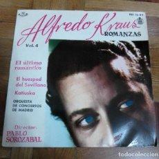 Discos de vinilo: SINGLE ALFREDO KRAUS ROMANZAS VOLUMEN 4 HISPAVOX 1959. Lote 226219265