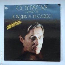 Disques de vinyle: GOYESCAS GRANADOS. JOAQUÍN ACHÚCARRO. LP. TDKDA77. Lote 239595240