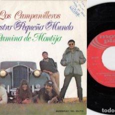 Dischi in vinile: LOS CAMPANILLEROS - NUESTRO PEQUEÑO MUNDO - SINGLE DE VINILO. Lote 226252590