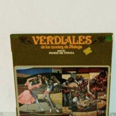 Discos de vinilo: LP VERDIALES DE LOS MONTES DE MALAGA. Lote 226267332