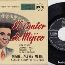Disques de vinyle: MIGUEL ACEVES MEJIA - EL CANTOR DE MEJICO - EP EDICION ESPAÑOLA. Lote 226272910