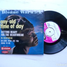 Disques de vinyle: DIONNE WARWICK – ANY OLD TIME OF THE DAY + 3 EP FRANCIA 1964 EX/EX. Lote 226277865