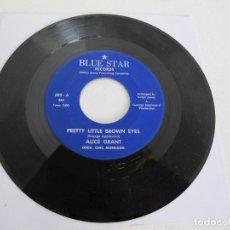 """Discos de vinilo: ALICE GRANT/ PRETTY LITTLE BROWN EYES / USA / BLUE STAR RECORDS / RARO SOUL FUNK 7"""". Lote 226278176"""