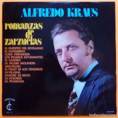 Discos de vinilo: ALFREDO KRAUS: ROMANZAS DE ZARZUELAS - LP - CARILLON - 1965 - VG / VG. Lote 226336325