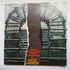 Disques de vinyle: PATXI ANDION. ONCE CANCIONES ENTRE PARENTESIS. LP. TDKLP. Lote 226336975
