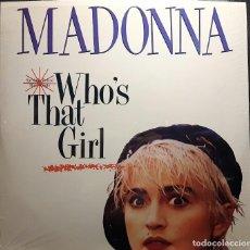Disques de vinyle: MADONNA - WHOS THAT GIRL - MAXISINGLE - USA - RARO - EXCELENTE - NO USO CORREOS. Lote 226361105