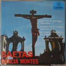 Discos de vinilo: GRACIAS MONTES EP SELLO COLUMBIA AÑO 1966 SAETAS.... Lote 226367680