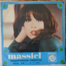 Discos de vinilo: MASSIEL EP SELLO NOVOLA PROMOCIONAL PRESENTACIÓN PERSONAL 29/4/66 SOLO UNA CARA.... Lote 226368465