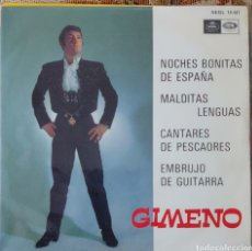 Discos de vinilo: GIMENO EP SELLO EMI-REGAL AÑO 1968.... Lote 226370515