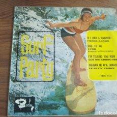 Discos de vinilo: VVAA - SURF PARTY ******** RARO EP ESPAÑOL 1964 SURF BEAT VERSIÓN BEATLES LYNN. Lote 226388315