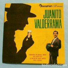 Discos de vinilo: JUANITO VALDERRAMA (EP 1962) (NUEVO) (RARO) SEMBLANZA DE MANUEL TORRES - FUE CULPA TUYA - ROSA. Lote 226393295
