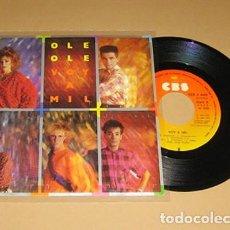 Disques de vinyle: OLE OLE & VICKY LARRAZ - VOY A MIL - SINGLE - 1984. Lote 226393303