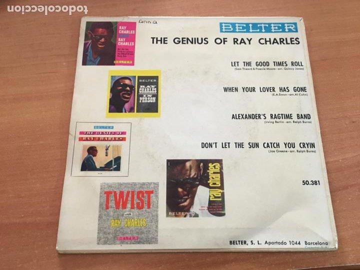 Discos de vinilo: RAY CHARLES THE GENIUS OF (LET THE GOOD TIMES ROLL +3) EP ESPAÑA 1960 (EPI19) - Foto 3 - 226395410