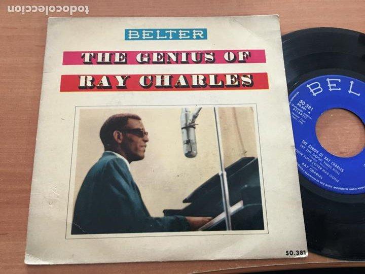 RAY CHARLES THE GENIUS OF (LET THE GOOD TIMES ROLL +3) EP ESPAÑA 1960 (EPI19) (Música - Discos de Vinilo - EPs - Funk, Soul y Black Music)
