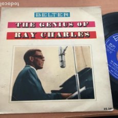 Discos de vinilo: RAY CHARLES THE GENIUS OF (LET THE GOOD TIMES ROLL +3) EP ESPAÑA 1960 (EPI19). Lote 226395410