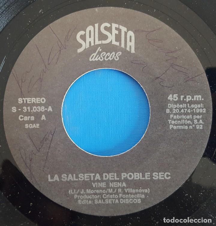 Discos de vinilo: SINGLE / LA SALSETA DEL POBLE SEC / VINE NENA - UNA OBSESSIÓ / SALSETA DISCOS S-31.036-A / 1992 - Foto 3 - 226397155