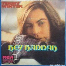 Discos de vinilo: SINGLE / TERRY WINTER / HEY HANNAH - LIKE A STRANGER / RCA RPBO-9059 / 1974 PROMO. Lote 226398865
