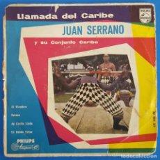 Discos de vinilo: EP / JUAN SERRANO Y SU CONJUNTO CARIBE / EL VIANDERO - HELENA - AY COSITA LINDA - EN DONDE ESTAS. Lote 226413240