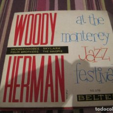 Disques de vinyle: EP WOODY HERMAN AT THE MONTEREY JAZZ FESTIVAL BELTER 50376 JAZZ. Lote 226417886