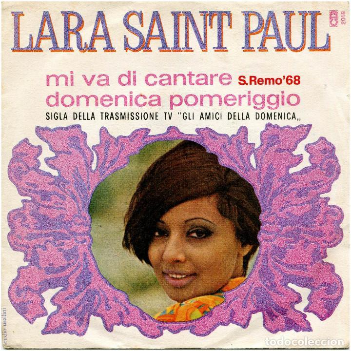 LARA SAINT PAUL - MI NO VA CANTARE (S. REMO 68) - SG ITALIA - CD2018 (Música - Discos - Singles Vinilo - Otros Festivales de la Canción)