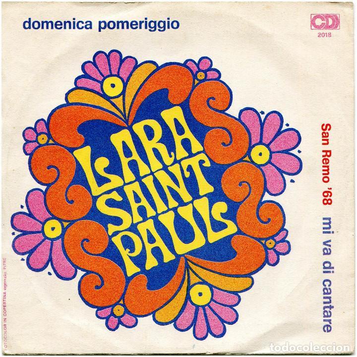 Discos de vinilo: Lara Saint Paul - Mi no va cantare (S. Remo 68) - Sg Italia - CD2018 - Foto 2 - 226422820