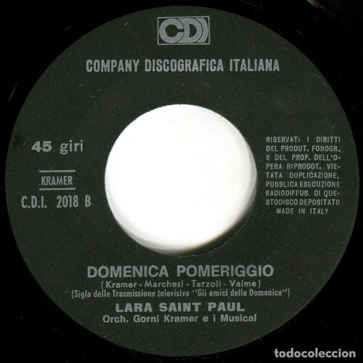 Discos de vinilo: Lara Saint Paul - Mi no va cantare (S. Remo 68) - Sg Italia - CD2018 - Foto 4 - 226422820