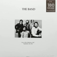 Discos de vinilo: THE BAND / BOB DYLAN * 2LP 180G VIRGIN VINYL *LIVE AT THE PALLADIUM NYC 18 SEPT. * PRECINTADO * RARE. Lote 226098358