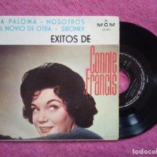Discos de vinilo: SINGLE CONNIE FRANCIS - LA PALOMA / NOSOTROS +2 - MGM 3.507 - EP SPAIN PRESS (VG++/VG++). Lote 226603742