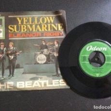 Discos de vinilo: THE BEATLES - YELLOW SUBMARINE / ELEANOR RIGBY. Lote 226605126