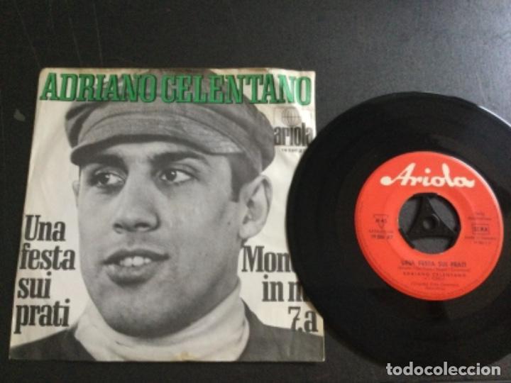 ADRIANO CELENTANO - UNA FESTA SUI PRATI / MONDO IN MI 7.A (Música - Discos - Singles Vinilo - Canción Francesa e Italiana)