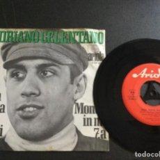 Discos de vinilo: ADRIANO CELENTANO - UNA FESTA SUI PRATI / MONDO IN MI 7.A. Lote 226605770