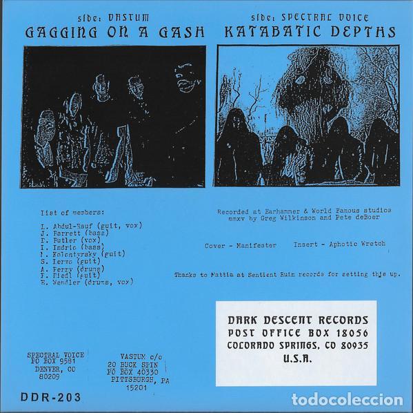 Discos de vinilo: Vastum / Spectral Voice - Split - 7 [Dark Descent Records] - Foto 2 - 226612455