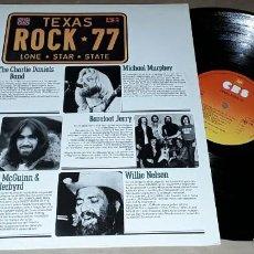 Discos de vinilo: LP - ROCK TEXAS 77 - MADE IN HOLLAND - DAN FOGELBERG / WILLIE NELSON / HEARTSFIELD / RUSTY WIER. Lote 226637400