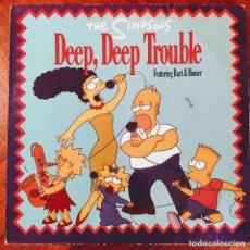 """Discos de vinilo: THE SIMPSONS - DEEP, DEEP TROUBLE (MAXI, 12""""). Lote 226638180"""