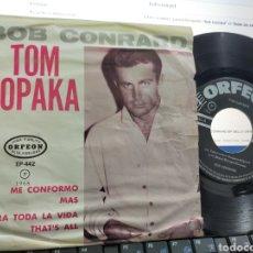Discos de vinilo: BOB CONRARD EP ME CONFORMO + 3 MÉXICO 1965. Lote 226641281
