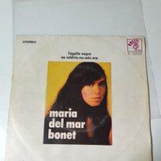 Discos de vinilo: MARIA DEL MAR BONET - L'AGUILA NEGRA / NO VOLARÍA RES MÉS ARA, BOCACCIO 1971. CON CANCIONERO BILINGU. Lote 226644031