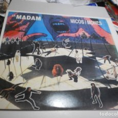 Discos de vinilo: LP LA MADAM. MICOS I MONES. BLAU 1989 SPAIN AMB L'INSERT DE LES LLETRES (PROVAT I BÉ, SEMINOU). Lote 226650300