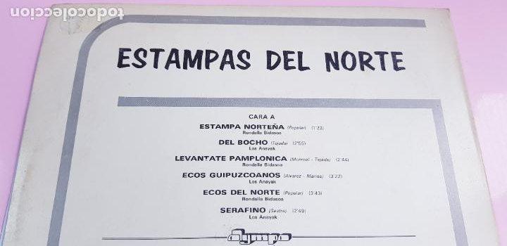 Discos de vinilo: LP-ESTAMPAS DEL NORTE-LOS ANAYAK Y RONDALLA BIDASOA-1972-OLIMPO- - Foto 6 - 226656040