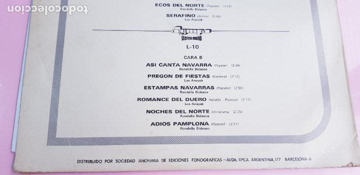 Discos de vinilo: LP-ESTAMPAS DEL NORTE-LOS ANAYAK Y RONDALLA BIDASOA-1972-OLIMPO- - Foto 7 - 226656040