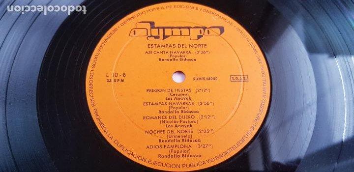 Discos de vinilo: LP-ESTAMPAS DEL NORTE-LOS ANAYAK Y RONDALLA BIDASOA-1972-OLIMPO- - Foto 9 - 226656040
