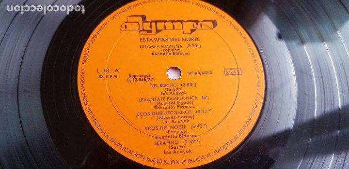 Discos de vinilo: LP-ESTAMPAS DEL NORTE-LOS ANAYAK Y RONDALLA BIDASOA-1972-OLIMPO- - Foto 10 - 226656040