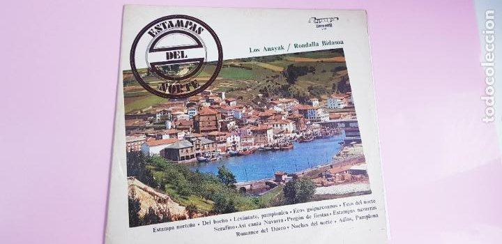 LP-ESTAMPAS DEL NORTE-LOS ANAYAK Y RONDALLA BIDASOA-1972-OLIMPO- (Música - Discos - LP Vinilo - Country y Folk)